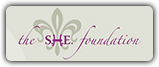 The SHE Foundation logo